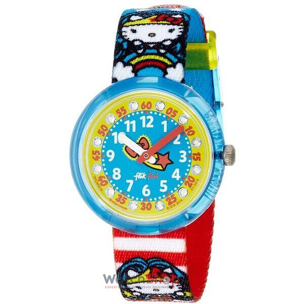 Ceas Flik Flak DC HELLO KITTY WONDER WOMAN ZFLNP018