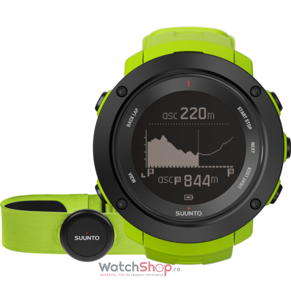 Ceas Suunto SS021970000 Ambit3 Vertical Lime (HR)