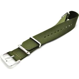 Curea (bratara) WS VELCRO GREEN-MILITARY/22mm