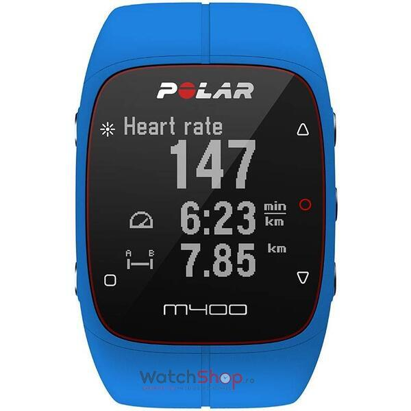 Ceas Polar TRAINING COMPUTER M400 Blue 90057189 HR
