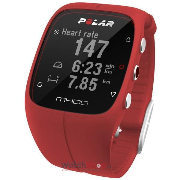 Ceas Polar TRAINING COMPUTER M400 Red 90061177 HR