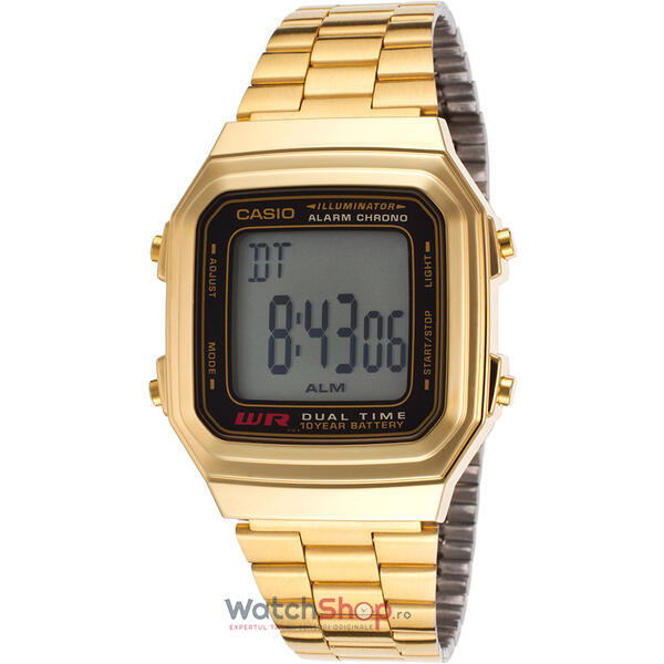 Ceas Casio RETRO A178WGA-1ADF Gold
