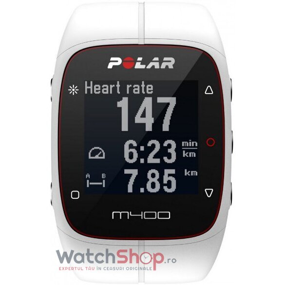Ceas Polar TRAINING COMPUTER M400 White HR