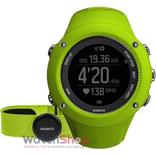 Ceas Suunto Ambit3 Run Lime (hr)