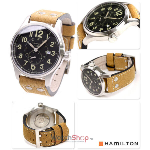 Ceas Hamilton KHAKI FIELD H70655733 OFFICER AUTOMATIC