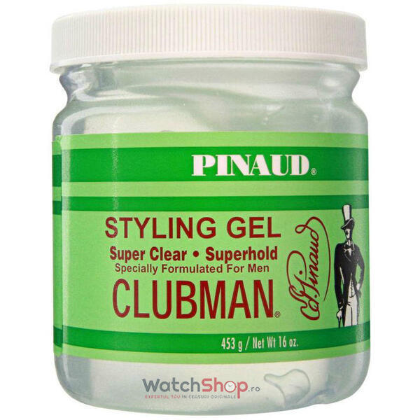 CLUBMAN GEL DE PAR Clear Superhold 453 gr