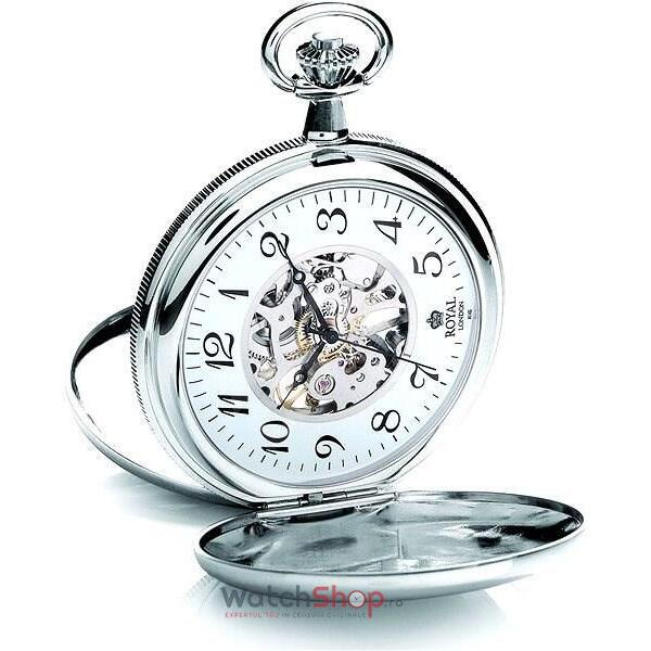 Ceas Royal London POCKET WATCH 90004-02 Double
