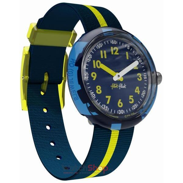 Ceas Flik Flak YELLOW BAND ZFPNP023