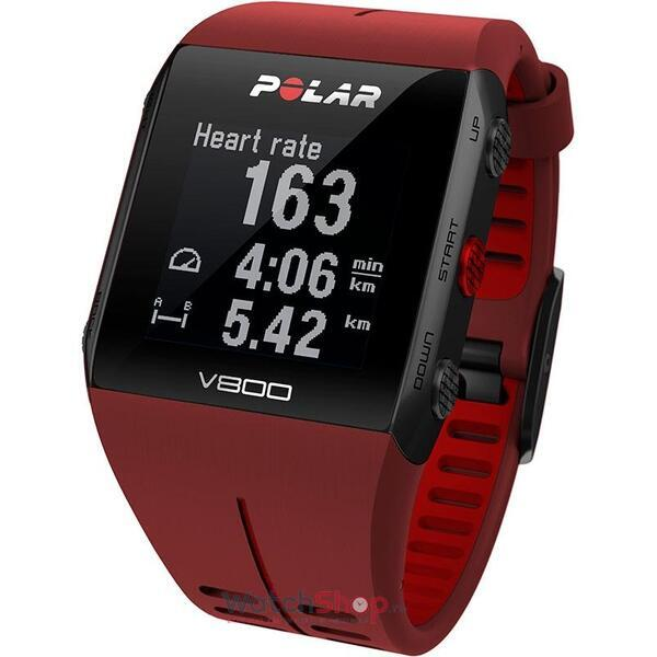 Ceas Polar TRAINING COMPUTER V800 RED 90060774 GPS