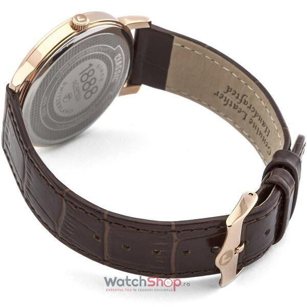 Ceas Roamer Mens C-Line Brown Leather Strap 709856 49 17 07