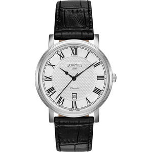 Ceas Roamer Mens C-Line Black Leather Strap 709856 41 22 07