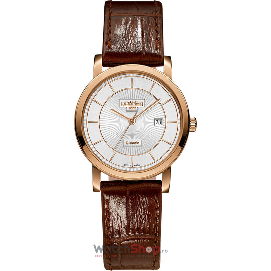 Ceas Roamer Ladies C-Line Brown Leather Strap 709844 49 17 07 de la Roamer