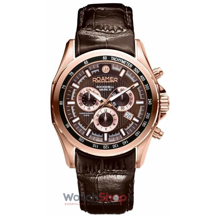 Ceas Roamer Rockshell Mark III Brown Leather Strap 220837 49 65 02 de la Roamer