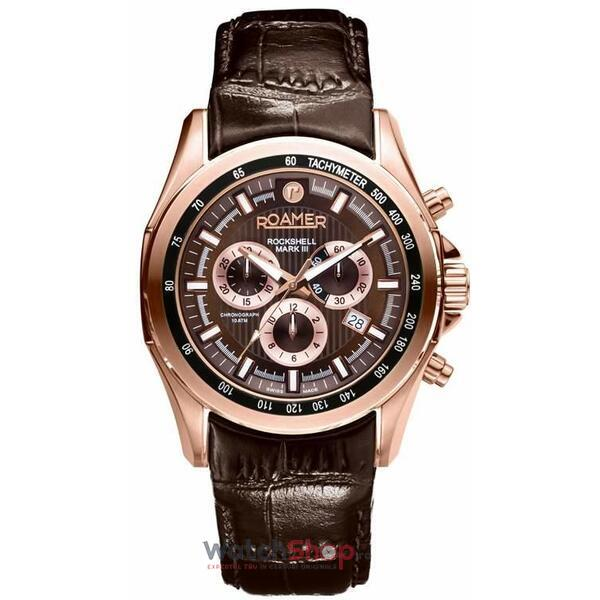 Ceas Roamer Rockshell Mark III Brown Leather Strap 220837 49 65 02
