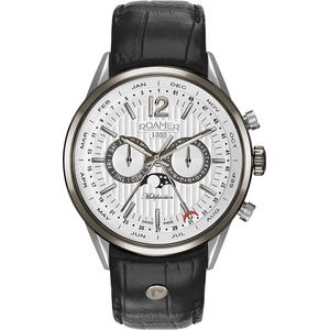 Ceas Roamer Superior Business Black Leather Strap 508822 40 14 05