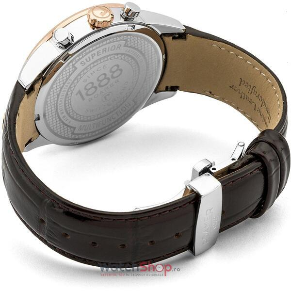 Ceas Roamer Superior Business Brown Leather Strap 508822 49 14 05
