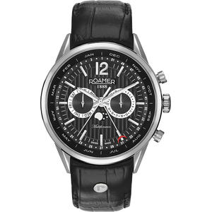 Ceas Roamer Superior Business Black Leather Strap 508822 41 54 05