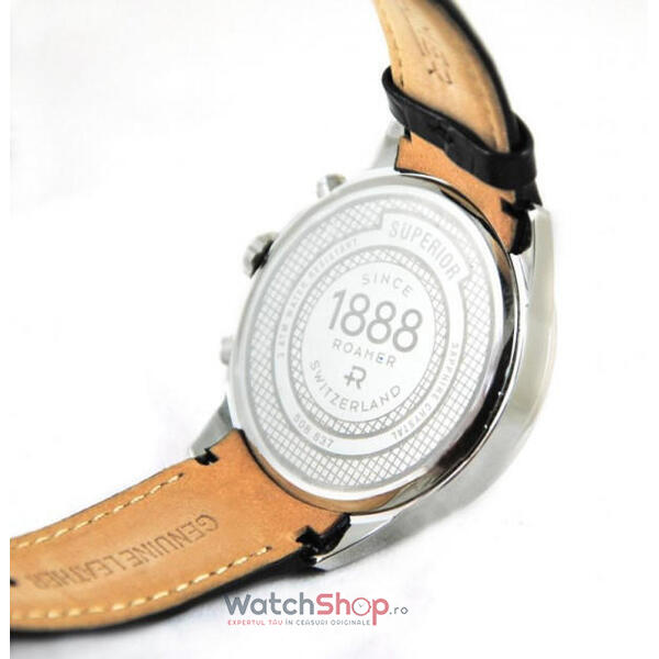 Ceas Roamer Superior Black Leather Strap 508837 41 15 05