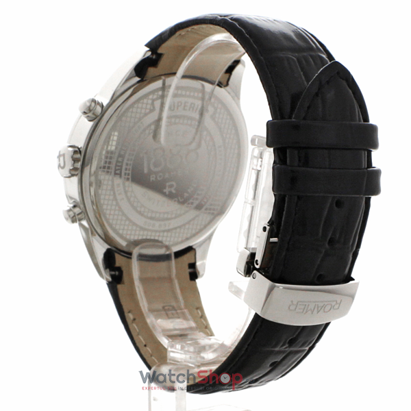 Ceas Roamer Superior Black Leather Strap 508837 41 55 05
