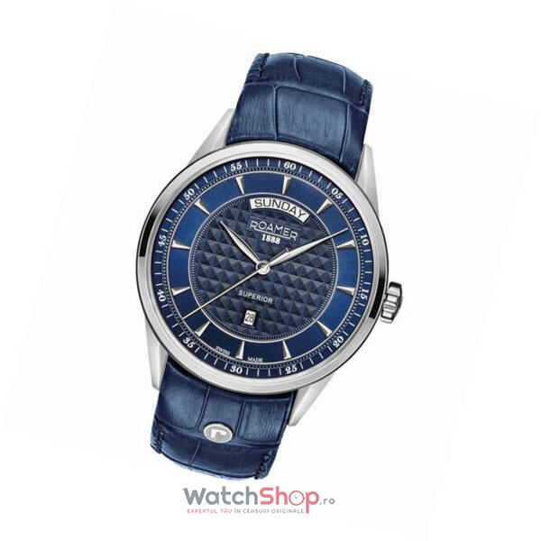 Ceas Roamer Superior Blue Leather Strap 508293 41 45 05