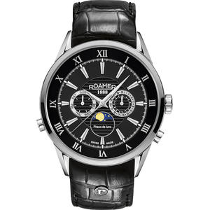 Ceas Roamer Superior Black Leather Strap 508821 41 53 05