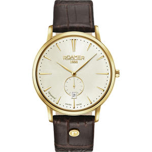 Ceas Roamer Vanguard Brown Leather Strap 980812 48 35 09