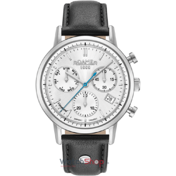 Ceas Roamer Vanguard II Black Leather Strap 975819 41 15 09