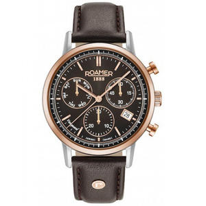 Ceas Roamer Vanguard II Brown Leather Strap 975819 49 55 09