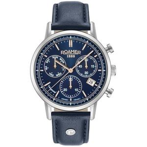 Ceas Roamer Vanguard II Blue Leather Strap 975819 41 45 09