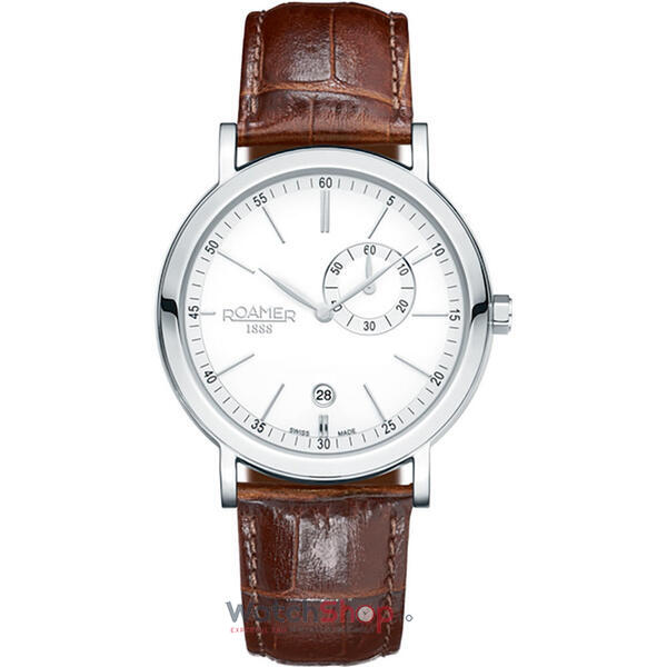 Ceas Roamer Vanguard Brown Leather Strap 934950 41 15 05