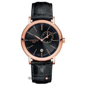 Ceas Roamer Vanguard Black Leather Strap 934950 49 55 05