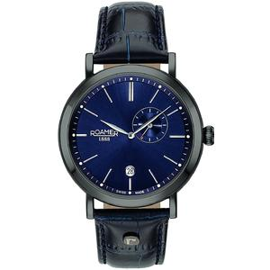 Ceas Roamer Vanguard Black Leather Strap 936950 40 45 09