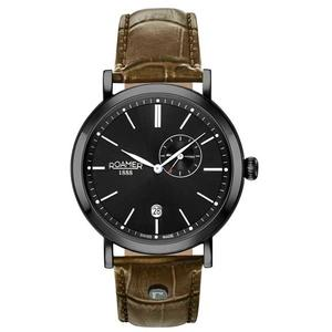 Ceas Roamer Vanguard Brown Leather Strap 936950 40 55 09