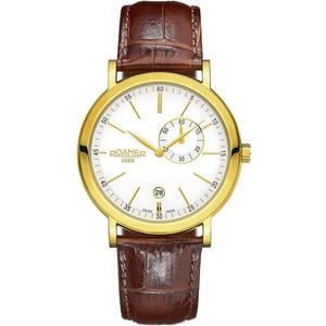Ceas Roamer Vanguard Brown Leather Strap 934950 48 25 05