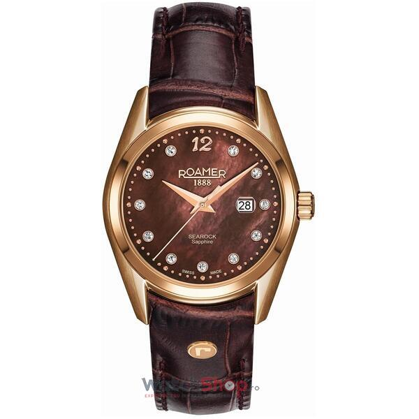 Ceas Roamer Searock Ladies Brown Leather Strap 203844 49 69 02