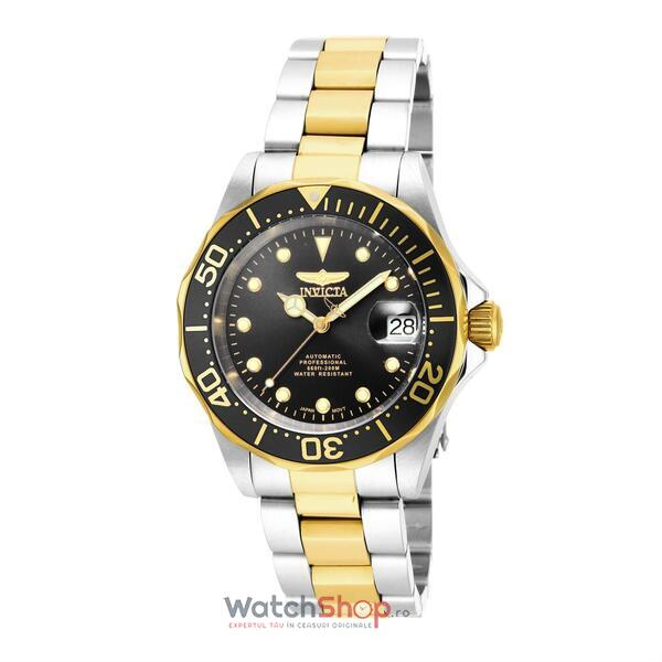 Ceas Invicta Pro Diver Men Silver Gold 17043