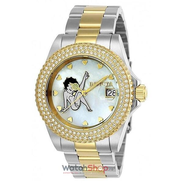 Ceas Invicta Character Ladies Silver Gold 24493