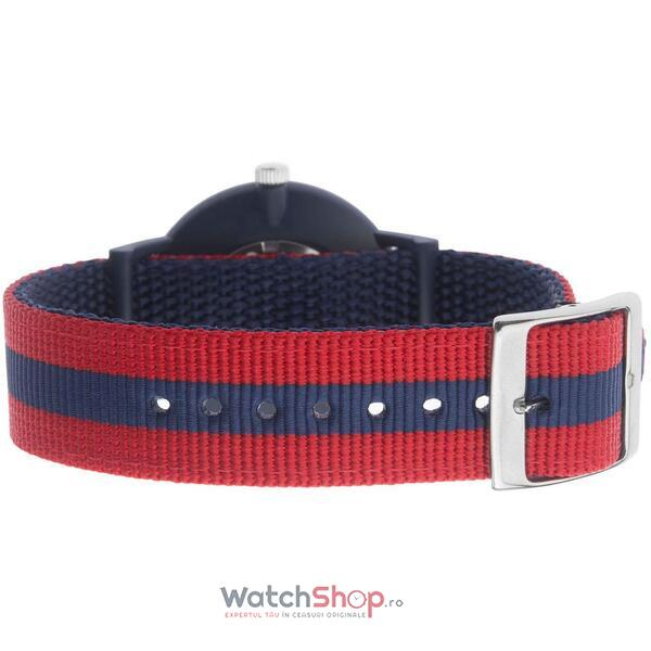 Ceas Sekonda Men's Red & Blue Reversible Nylon Strap 1582