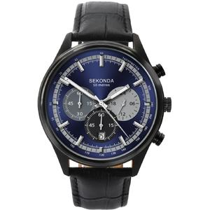 Ceas Sekonda Sport Men's Blue Dial Black Leather Strap 1593
