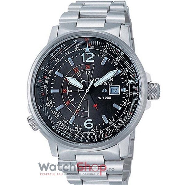 Ceas Citizen Promaster Eco Drive Bj7010-59e Dual Time