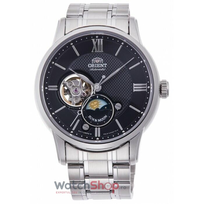 Ceas Orient Sun and Moon RA-AS0002B10B Open Heart Automatic de la Orient