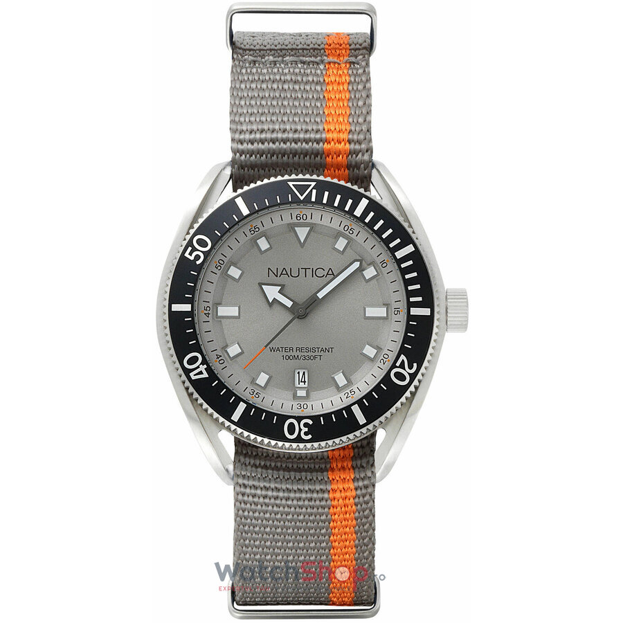 Ceas Nautica PRF Date NAPPRF003 Gray & Orange