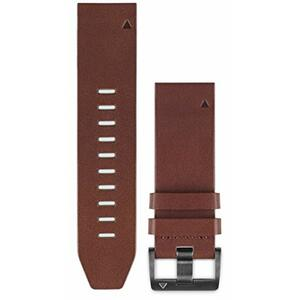 Curea (bratara) ceas Garmin QuickFit Brown Leather Band 010-12496-05