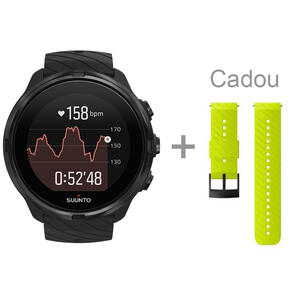 SmartWatch SmartWatch Suunto 9 SS050257000 All Black + curea lime green silicon cadou
