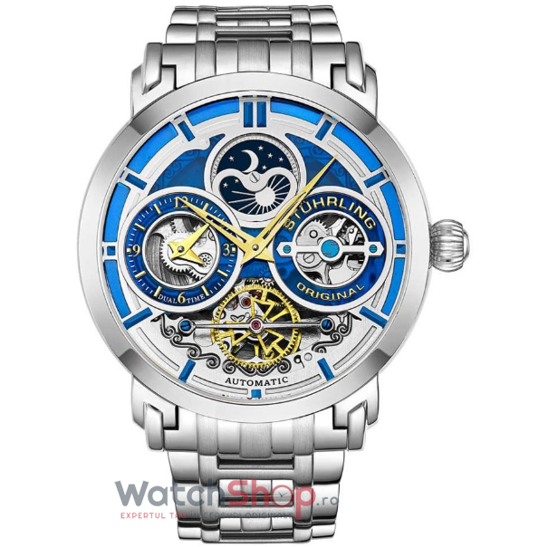 Ceas Stuhrling Legacy Luciano 371B.02 Skeleton Automatic