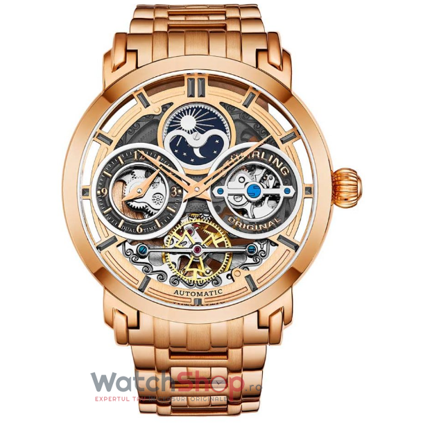 Ceas Stuhrling Legacy Luciano 371B.04 Skeleton Automatic