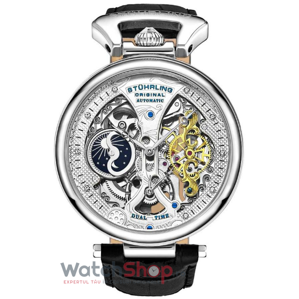 Ceas Stuhrling Legacy Emperor's Grand DT 3920.1 Skeleton Automatic