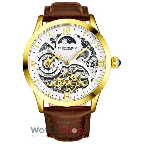 Ceas Stuhrling Legacy Special Reserve 3921.3 Skeleton Automatic