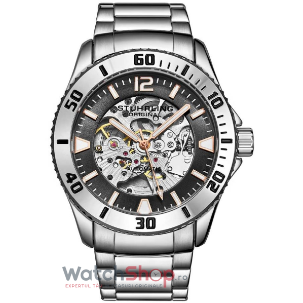 Ceas Stuhrling Aquadiver Regatta Antilles 3963.3 Skeleton Automatic