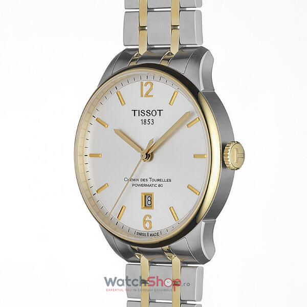 Ceas Tissot T-CLASSIC T099.407.22.037.00 Chemin des Tourelles Powermatic 80